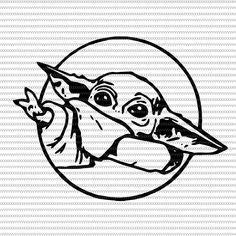 Baby Yoda svg The Mandalorian The Child Baby Yoda Png star wars svg png The Child png vector t-shirt design Tatoo Star, Star Wars Tattoo, Yoda Drawing, Line Drawing, Star Wars Desenho, Tatoo Simple, Yoda Png, Star Wars Silhouette, Cuadros Star Wars