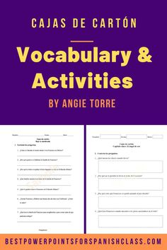 Want your students to get excited about reading? Check out these vocabulary lists, activities, and quizzes for 13 chapters of Cajas de cartón by author Francisco Jiménez. Students of levels three, four and AP Spanish love this novel because it is true, fascinating, relatable, and helps them understand life from the immigrant's point of view. This Guía del educador does all the work for you. The vocabulary lists and digital versions make it accessible to students. #FranciscoJiménez #SpanishNovels