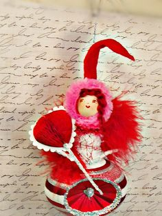 ooak retro inspired Queen of hearts Valentine by sugarcookiedolls, $26.00