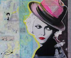 Reproductie 'C'est la vie' van Janet Edens voor aan de muur.