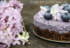 Blueberry Chia Seed Cashew Cake | Healthy Ideas for Kids