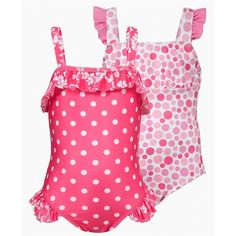Penelope Mack Kids Swimwear, Little Girls Polka Dot Swimsuit found on Polyvore