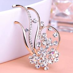18K Gold Large Austrian Crystal Flowers Brooches for Women Wedding Jewelry Fruit Top Quality Brocheds Scarf Clips Pin Up Broach-in Brooches from Jewelry on Aliexpress.com | Alibaba Group