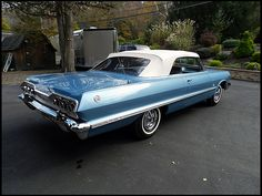 1963 Chevrolet Impala SS Convertible 409/425 HP, 4-Speed. Had one like this in high school.