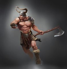 ArtStation - barbarian, Yi Liu