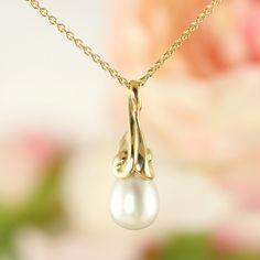 Galleri Castens - Drops - guldvedhæng med perle