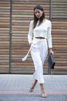 white on white. Zina in Copenhagen. #Fashionvibe