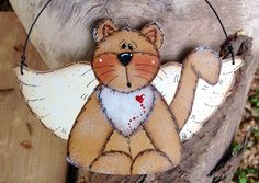 Angel Kitty Ornament by CountryCharmers on Etsy, $7.75