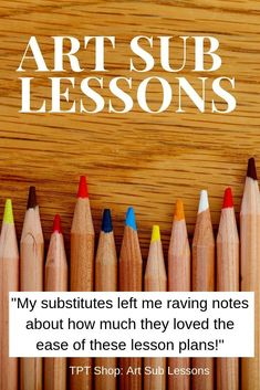 Art Sub Lessons Get ready for back to school. Have your art sub lesson plans ready to go! Fun and easy art projects for middle and elementary school. Elementary Art Rooms, Art Lessons Elementary, Teaching Elementary Art, Art Sub Plans, Art Lesson Plans, Art Substitute Plans, Kindergarten Art Lessons, Easy Art Projects, Drawing Projects