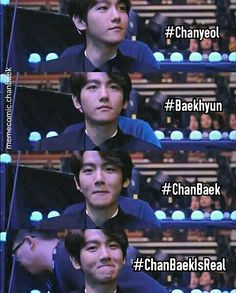 chanbaek is real. Chanbaek, Chanyeol, Kpop, Wicked, Funny, Movies, Movie Posters, Fictional Characters, Films