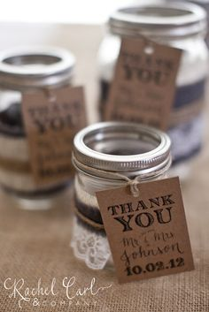 What thank you gifts will be given to the bridal party? Wedding Favours Navy Blue, Wedding Favour Jars, Homemade Wedding Favors, Elegant Wedding Favors, Wedding Gift Tags, Party Favor Tags, Wedding Party Favors, Wedding Pins, Free Wedding