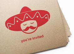 Printable Sombrero Party Invitations / Instant Download, Edit & Print on Etsy, $15.00