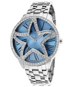 Women's Silver-Tone Stainless Steel Blue dial -