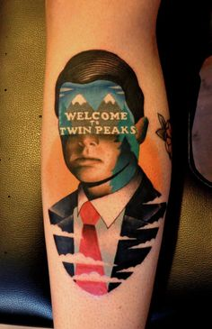 Marcin Aleksander Surowiec - Welcome to Twin Peaks. My home town is where they shot Twin Peaks. Love Tattoos, Tattoo You, Beautiful Tattoos, Tattoos For Guys, Worst Tattoos, Twin Tattoos, Tattoo Pics, Pretty Tattoos, Tattoos Mandala