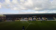 Rochdale's Spotland Stadium ahead of their League Two match with Fleetwood Town (October 2012)