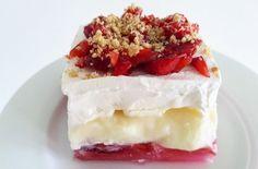 Dessert Recipes, Desserts, Cheesecake, Strawberry, Sugar, Cream, Sweet, Food, Greek Beauty