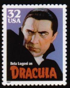 Literary Stamps: Stoker, Bram (1947-1912).
