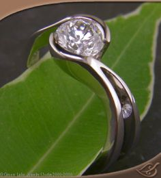 #engagement #jewelryworks Simple elegance...balance and nature. This also has to be in the top several choices. love the simple elegance. I can see the small stone being a birthstone. (Keep an eye on this one Chris) This is in the top 5
