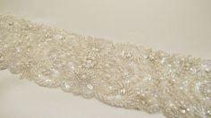 Reserved Listing for Hannah Beaded Bridal Wedding Sash by gebridal, $25.00