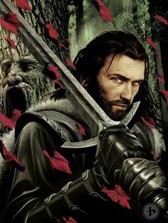 Eddard Stark. Artwork by John Picacio.
