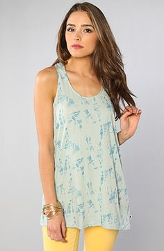 The Twist Tank Top in Mist by Burton at karmaloop.com    This website has the cutest clothes.