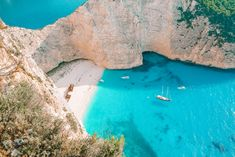 Navagio Beach, Zakynthos - A quick guide to the top Greek islands Best Places In Greece, Best Beaches In Europe, Beaches In The World, Most Beautiful Beaches, Beautiful Places To Visit, Cool Places To Visit, Places To Travel, Amazing Places, Travel Destinations
