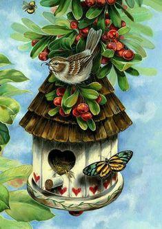 Feathering the nest. #homemadebirdhouses