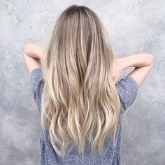 174 hottest blonde hair looks to copy this summer - Grey Balayage, Babylights Blonde, Balayage Hair, Blonde Hair Lowlights, Natural Blonde Balayage, Sandy Blonde Hair, Blonde Hair Looks, Real Human Hair Extensions, Extensions Hair