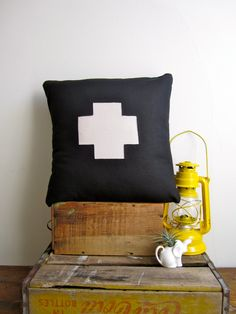 Swiss Cross Pillow Cover Large by ShopPilgrim on Etsy, $35.00