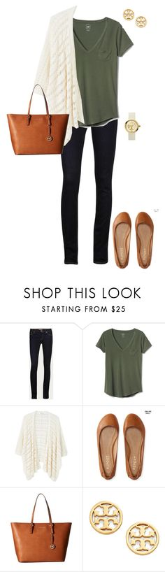 """Untitled #299"" by blueblondie89 ❤ liked on Polyvore featuring J Brand, Gap, MANGO, Aéropostale, MICHAEL Michael Kors and Tory Burch"