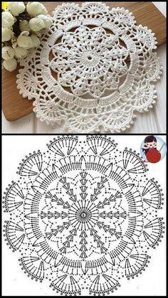 Free Crochet Doily Patterns, Crochet Coaster Pattern, Crochet Mat, Crochet Carpet, Crochet Dollies, Crochet Circles, Crochet Designs, Crochet Crafts, Crochet Flowers