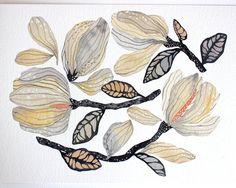 Magnolia Painting Watercolor Nature Art Archival от RiverLuna