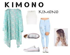 """""""kimono in the summer!!!!!!!!!!!!!"""" by maryjsullivan ❤ liked on Polyvore featuring River Island, Converse and kimonos"""