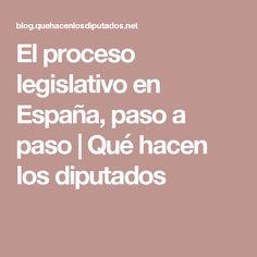 El proceso legislativo en España, paso a paso | Qué hacen los diputados