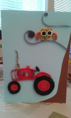Tractor ang owl by quilling