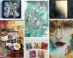 Marjie Kemper's Tuesday's Tutorials Blog Series - art journal and mixed medial tutorials