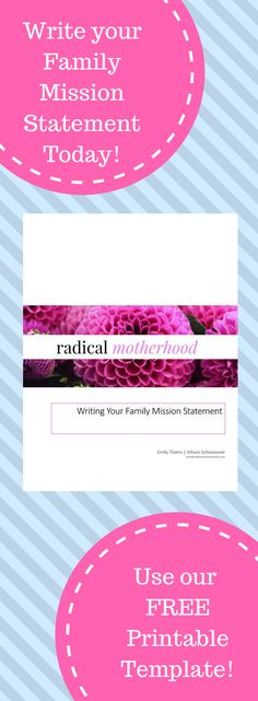 Writing your family mission statement is the most important thing you can do for your family this year! This blog post will give you all the information you need to write your mission statement, plus a link to our FREE family mission statement printable.
