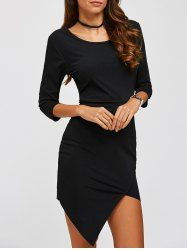 Graceful Off-The-Shoulder Bowknot 3/4 Length Sleeves Dress For Women in Off-white   Sammydress.com Mobile