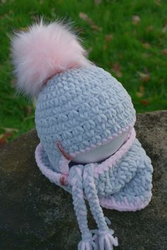 Baby Hats Knitting, Knitted Hats, Crochet Hats, Crochet For Kids, Headbands, Winter Hats, Hair Beauty, Booty, Sewing