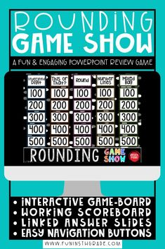 Rounding can be FUN for you to teach and for students to learn with this highly engaging Rounding Game Show PowerPoint! This game will make the skill of practicing rounding something students are EXCITED to do! My class CHEERS when they see this game in the plans. PERFECT for review! Put student...