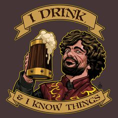 """TOP SELLER """"He Drinks"""" by dandstrbo is available on TeeFury for just $11 today and tomorrow."""
