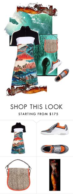 """""""Awash"""" by palmgrass99 ❤ liked on Polyvore featuring Carven, Prada Sport and Michael Williams"""