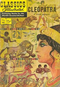 COMIC classics illustrated cleopatra #comic #cover #art