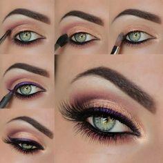 orange and purple eye shadow