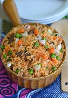 Nigerian Jollof Rice is the most popular rice recipe in Nigeria. It is also a big party favorite. This is one meal that will be recommend to anyone who has never tasted a Nigerian dish. However, food in a Nigeria home is always prepared by the woman of the house or first daughter as tradition permits.