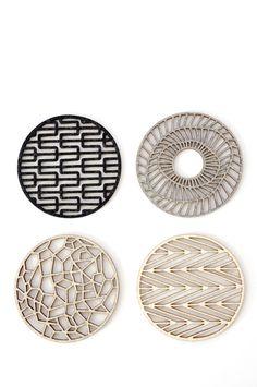 Geometric Coasters; set of four handmade felt coasters. $38