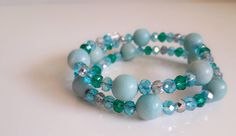 Swarovski Crystals, My Etsy Shop, Beaded Bracelets, Trending Outfits, Unique Jewelry, Handmade Gifts, Check, Blue, Shopping