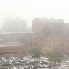A very foggy morning here at #CCAC #Allegheny Campus!