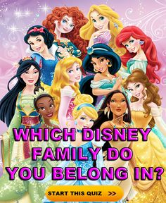 Ever wondered what Disney family you would belong in if you had one? Let us know and share with friends :)