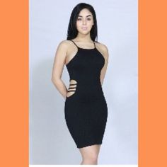 Spaghetti strap knitted bodycon dress NWOT Spaghetti strap knitted bodycon dress in glitter fabric NWOT 1 - Small 1 -Medium and 1 - Large Dresses Midi